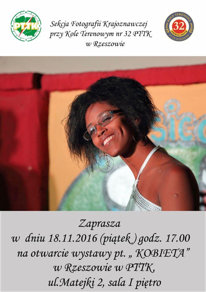 """18.11.2016 wernisaż wystawy pt. """"Kobieta"""", SFK przy KT 32 PTTK Rzeszów"""